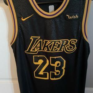 Black Lakers Lebron James Jersey
